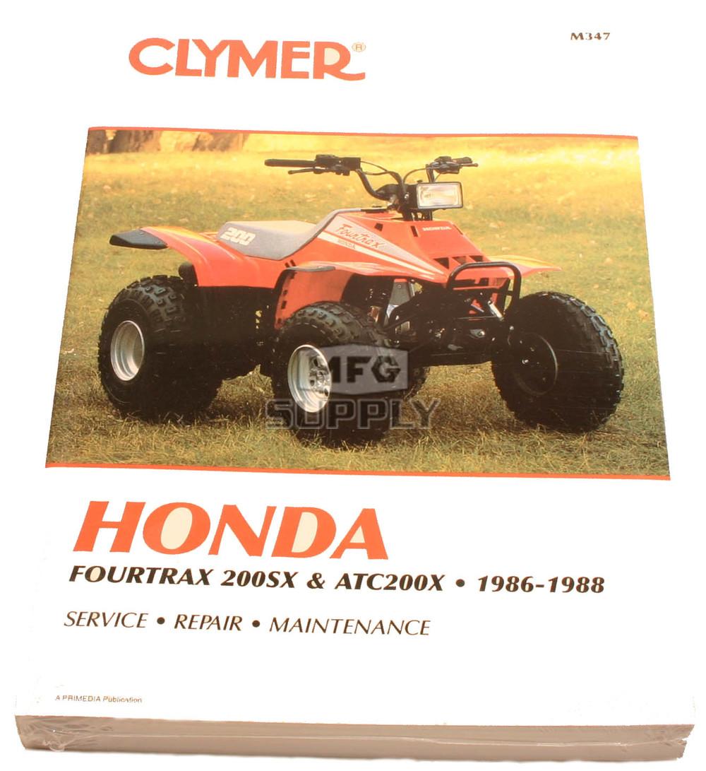 CM347 - 86-88 Honda ATC200X/TRX200SX Repair & Maintenance manual.