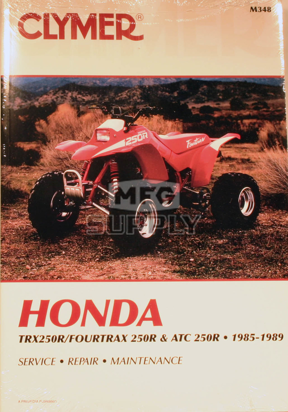 Cm348 85 89 Honda Atc Trx250r Repair Maintenance Manual Atv Parts Mfg Supply