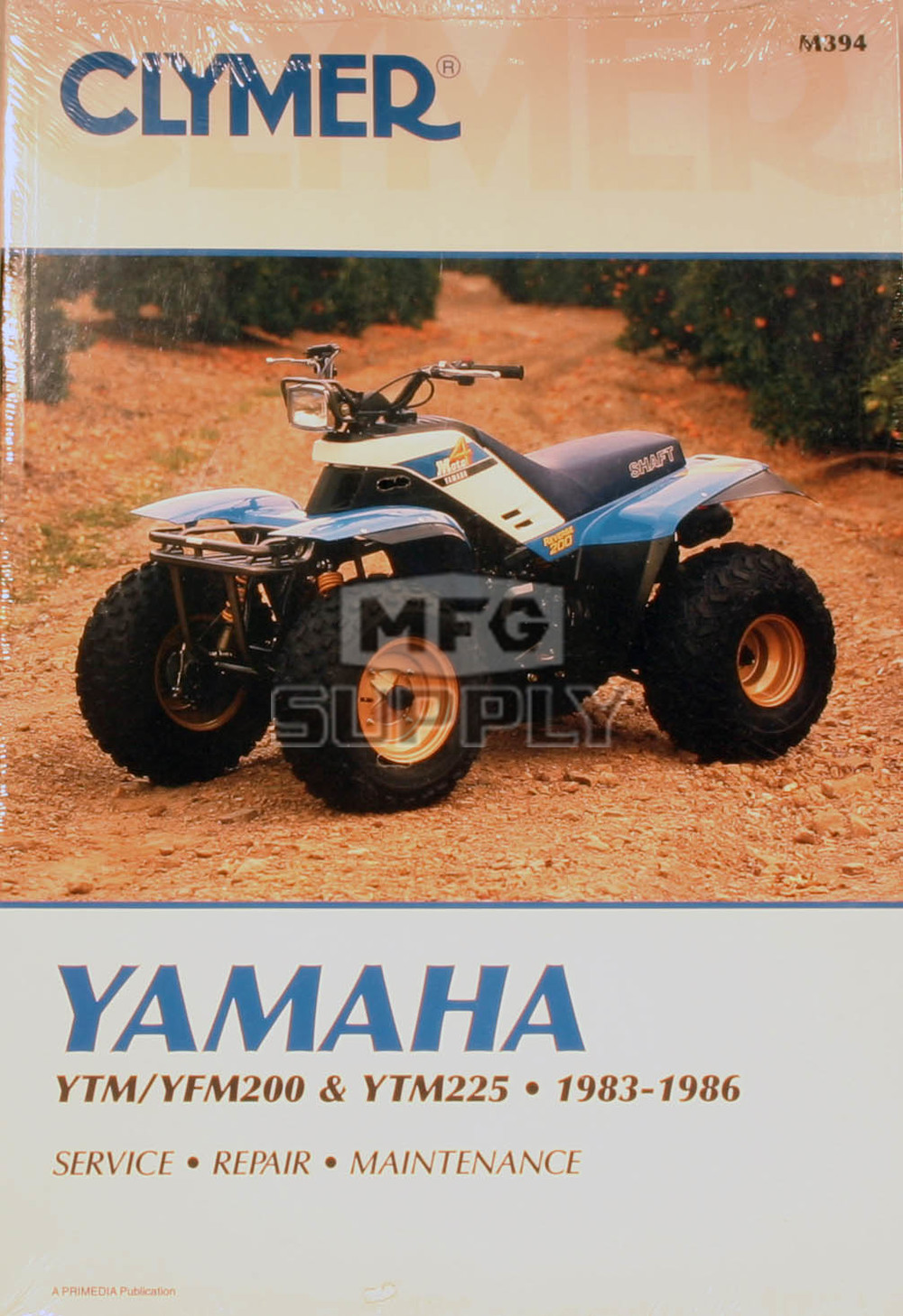 Cm394 83 86 yamaha ytm yfm200 225 repair maintenance for Yamaha ysp 5600 manual