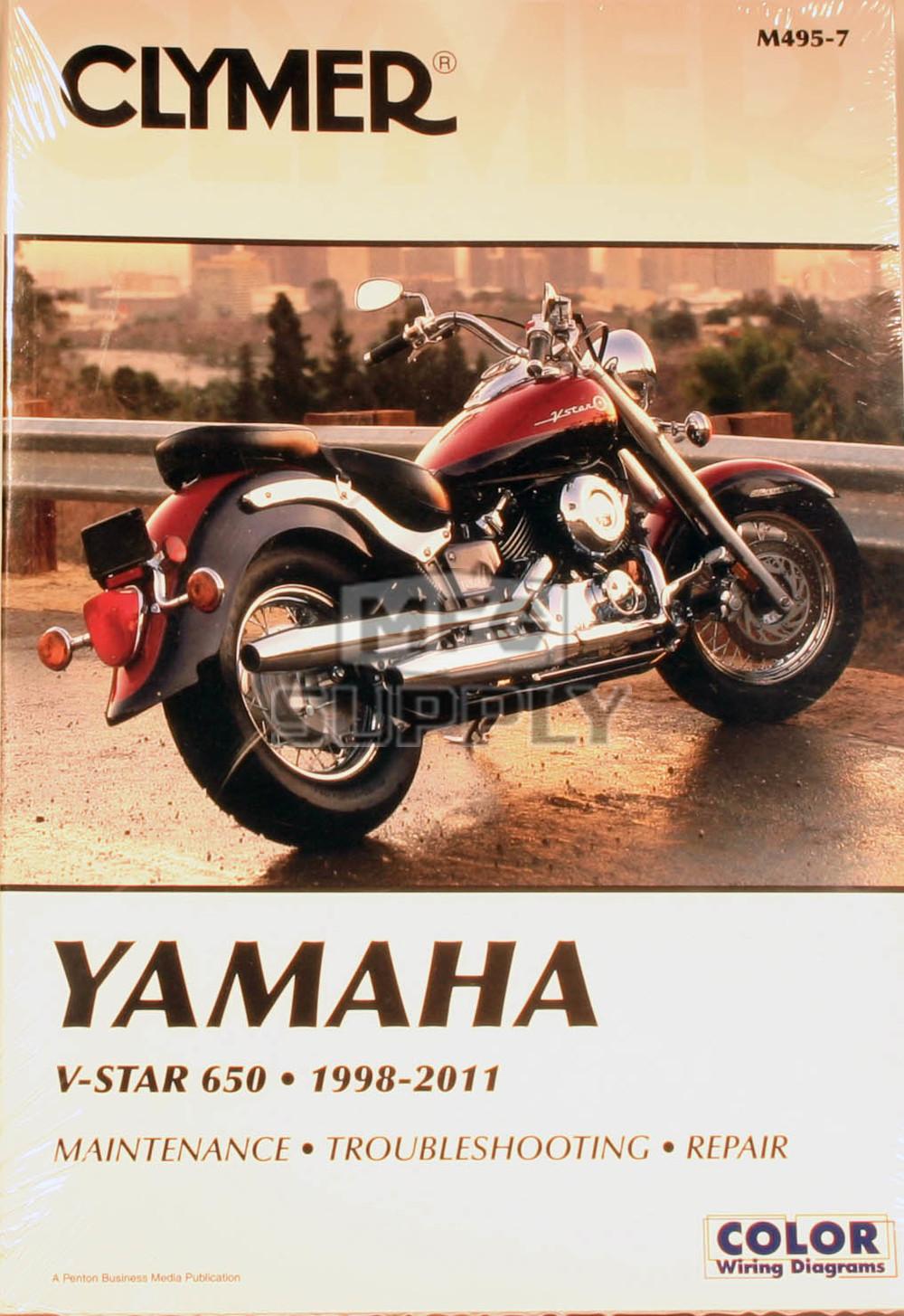 CM495 - 98-07 Yamaha V-Star 650, XVS650 Custom, XVS650A Classic