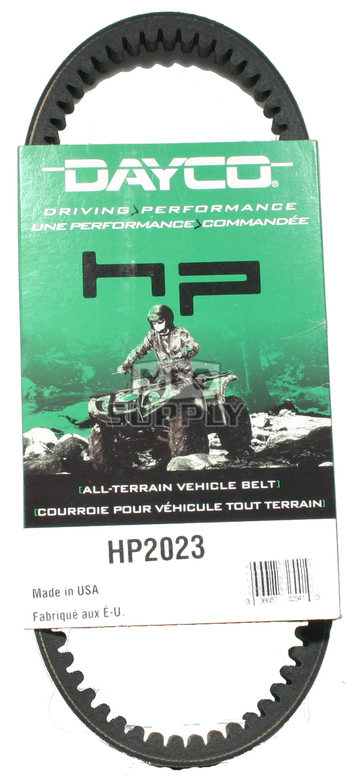 hp2023 - dayco high performance utility vehicle belt. fits