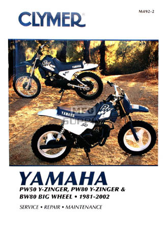 cm492 81 02 yamaha pw50 pw80 y zinger bw80 big wheel. Black Bedroom Furniture Sets. Home Design Ideas