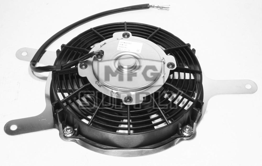 Rareelectrical NEW COOLING FAN MOTOR COMPATIBLE WITH ASSEMBLY KAWASAKI 2010-2013 KRF750 TERYX 750 FI 4X4 RFM0017 70-1029 59502-0047 59502-0564 463743