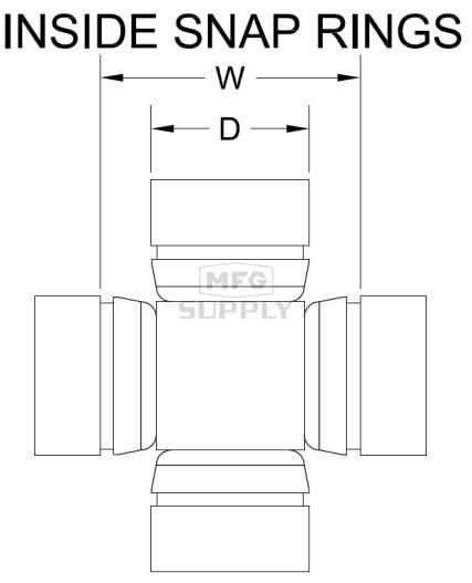 2004 Rear Axle Inner//Outer U-Joint 1590257 Polaris Ranger 500 4x4 /& 6x6