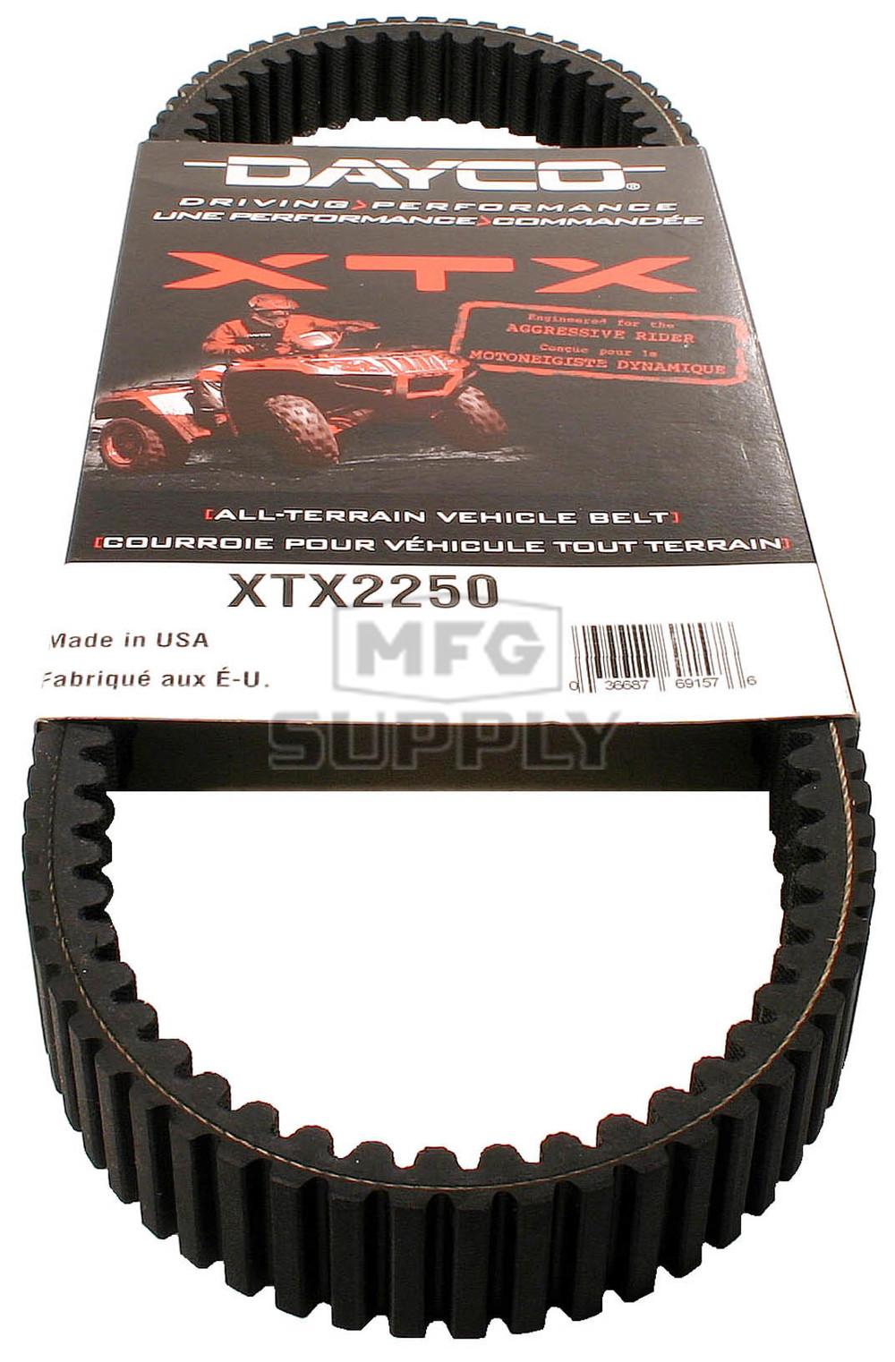 Dayco XTX (Xtreme Torque) Belt Fits Polaris Ranger models
