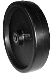 "7-6918 - 6"" X 1.375"" Deck Wheel,1-1/2"" Centered Hub,1/2"" Center Hole Bushing"