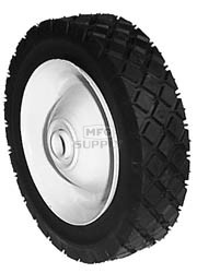 "6-274 - 6"" X 1.50"" Steel Wheel with 1/2"" ID Ball Bearing (Diamond Tread)"