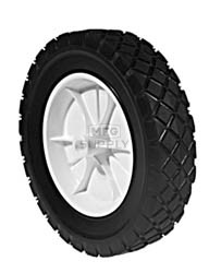 "7-282 - Plastic Wheel 8"" X 1.75""  with 1/2"" Center Hole (Diamond Tread)"