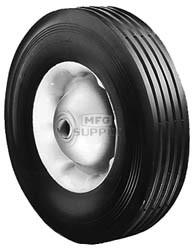 """6-289 - 10"""" X 2.75"""" Steel Wheel with 5/8"""" ID Ball Bearing (Rib Tread)"""