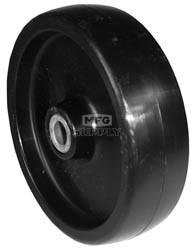 "7-6915 - 5"" X 1.375"" Deck Wheel,1-1/2 Center Hub,1/2"" Center Hole Steel Bushing"