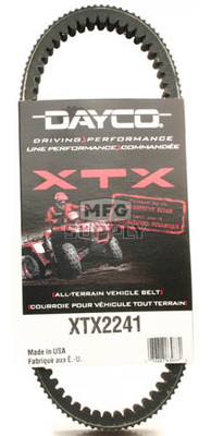 XTX2241 - Yamaha Dayco  XTX (Xtreme Torque) Belt. Fits 07 and newer Grizzly 700 & Rhino 700 models.