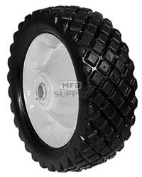 "6-288 - 8.25"" X 2.75"" Steel Wheel with 3/4"" ID Ball Bearing (Diamond Tread)"