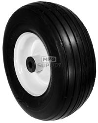 """6-433 - Front Wheel Assembly For MTD with 5/8"""" Plastic Bushing"""