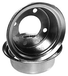 "8-377 - 4"" Rims Pair for 1 Wheel"