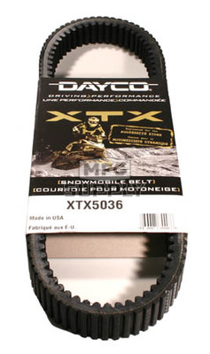 XTX5036 - Arctic Cat Dayco  XTX (Xtreme Torque) Belt. Fits 07 and newer Z1 snowmobiles.