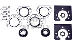 "AZ1864 - Live Axle Bearing Kit with 3 Hole Flangette for 1-1/4"" Axle. With free spinning axle bearings."