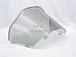 "450-472 - Ski-Doo Low 13"" Smoke Windshield. S-2000 Chassis with Lampbase Pod."