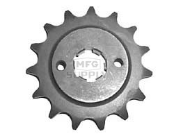 KS003897 - Honda ATV 15 tooth front sprocket. Fits 83-86 ATC250R & 86-89 TRX250R.