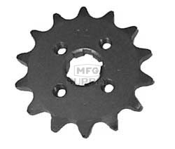KS003402 - Honda ATV 14 tooth front sprocket. 73-81,82-85 ATC70, 86-87 TRX70