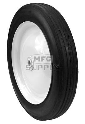 """6-12484 - 10"""" x 1.75"""" steel wheel with 1/2"""" ID (Rib tread)"""