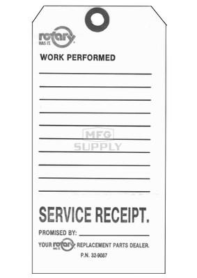 "32-9087 - 3-1/4"" X 6-1/4"" Service Repair Tags (Pkg Of 100)"