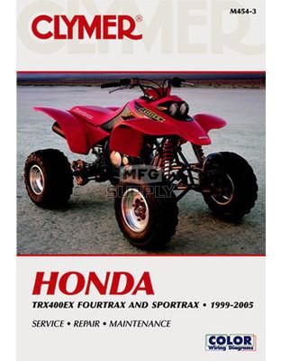 CM454 - 99-05 Honda TRX400EX Fourtrax/SporTraxRepair & Maintenance manual.