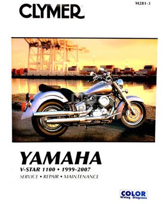 CM281 - 99-09 Yamaha V-Star, XVS1100, XVS1100A Repair & Maintenance manual