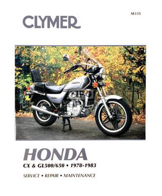 CM335 - 78-83 Honda CX, GL500 & GL650 Twins Repair & Maintenance manual