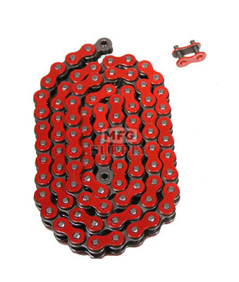 520RD-ORING-114 - Red 520 O-Ring ATV Chain. 114 pins