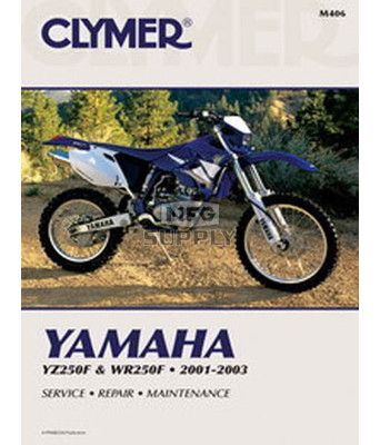 CM406 - 01-03 Yamaha YZ250F & WR250F Repair & Maintenance manual