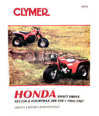 CM455 - 84-87 Honda ATC250 & Fourtrax 200cc-250cc Repair & Maintenance manual.