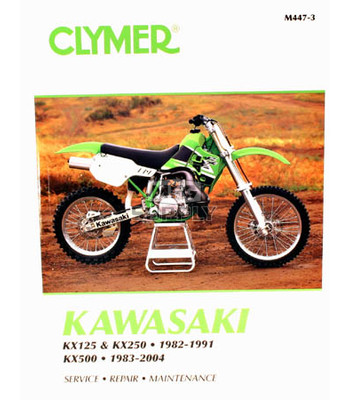 CM447 - 82-91 Kawasaki KX125, KX250 & 83-04 KX500 Repair & Maintenance manual