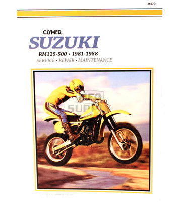 CM379 - 81-88 Suzuki RM125, RM250, RM465, RM500 Single Shock Repair & Maintenance manual