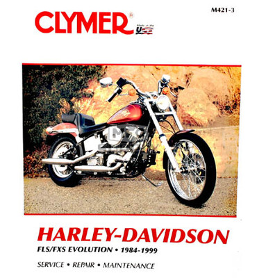 CM421 - 84-89 Harley Davidson FLS FXS Evolution Repair & Maintenance manual