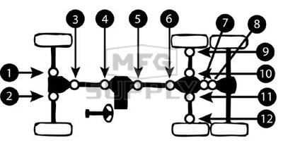 K158761-NN12 - Polaris ATV U-Joint for front axles