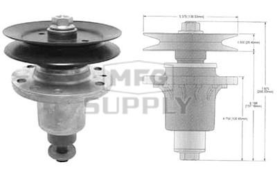 "10-13003 - Exmark Laser Z HP 48"" Deck Spindle Assembly"