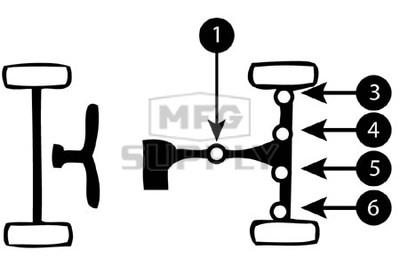 K158754-HH45 - Suzuki ATV U-Joint for rear axle