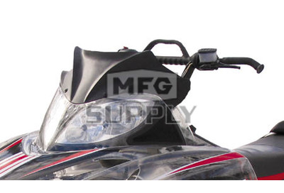 480-100-60 - Arctic Cat Flat Black Peak Windshield. 03 and newer F & M Chassis.