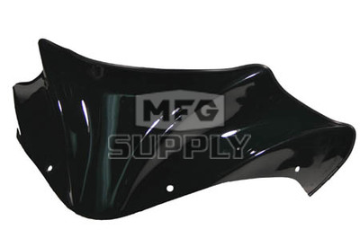 480-100-50 - Arctic Cat Gloss Black Peak Windshield. 03 and newer F & M Chassis.