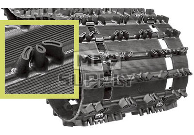 "9009H - 1"" Camoplast Hi-Performance HackSaw Trail Track. 15"" x 121""."