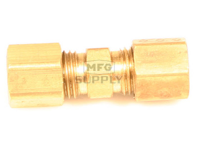 "AZ8311 - Brass Full Union Fitting, 3/16"" Tube to 3/16"" Tube"