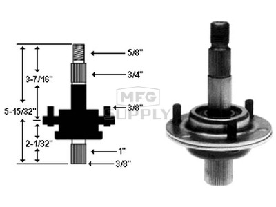 10-7156 - Spindle Assembly Replaces MTD 717-0900A