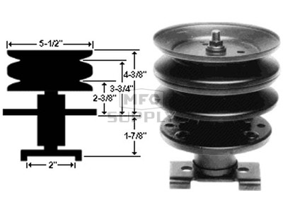 10-7251 - Noma 310-675 Center Spindle Assembly