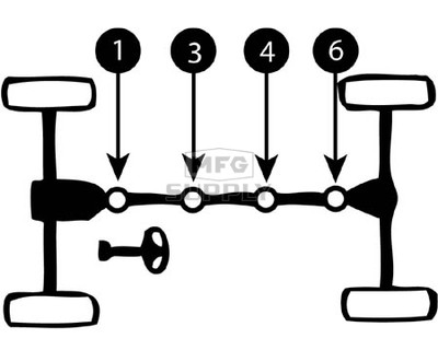 K058882-MM1 - Arctic Cat ATV Heavy Duty U-Joint for front drive shaft