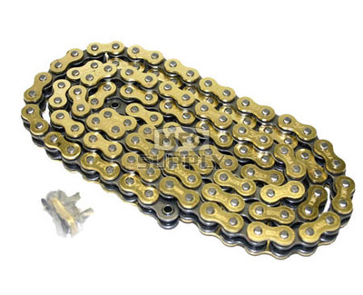 530GO-ORING-110 - Gold 530 O-Ring ATV Chain. 110 pins