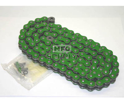 520GR-ORING-110-W1 - Green 520 O-Ring Motorcycle Chain. 110 pins