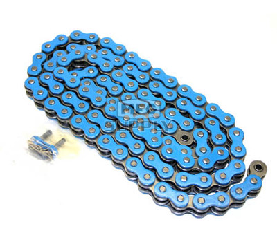520BL-ORING-112 - Blue 520 O-Ring ATV Chain. 112 pins