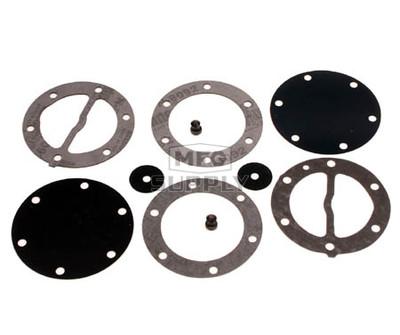 451455 - Mikuni Round Fuel Pump Repair Kit. All DF-52 dual & triple outlet pumps.