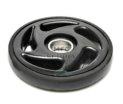 "04-052-20 - Pro Black Idler Wheel. 5-1/4"" OD. With 6205-2RS bearing."