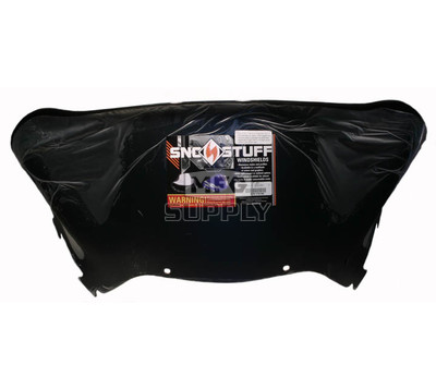 "479-110-50 - Arctic Cat Low 15"" Flared Windshield  Black"
